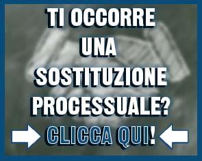 sostituzioni processuali e adempimenti