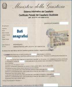 Casellario giudiziale online urgente