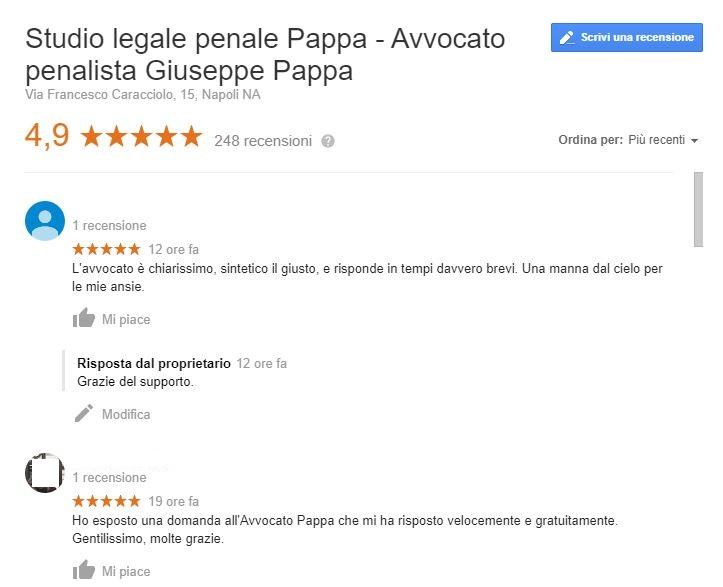 cancellare una recensione su google