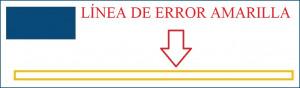 linea gialla di errore spagna